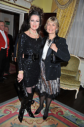 Left to right, ALEXANDRA BASTEDO and LORRAINE CHASE at Ambassador Earle Mack's 60's reunion party held at The Ritz Hotel, London on 18th June 2012.
