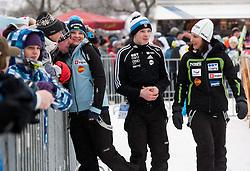 Manja Pograjc,  and Anja Tepes during Normal Hill Individual Competition at FIS World Cup Ski jumping Ladies Ljubno 2012, on February 11, 2012 in Ljubno ob Savinji, Slovenia. (Photo By Vid Ponikvar / Sportida.com)