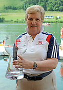Lucerne, Switzerland. Di ELIIS collect the World Cup Trophy on behalf of the GB Rowing team. Highest points scorers overthe three round of the World Cup.  2010 FISA World Cup. Lake Rotsee, Lucerne.  14:14:56   Sunday  11/07/2010.  [Mandatory Credit Peter Spurrier/ Intersport Images]