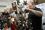 One of the stalls selling components of tattoo machines at the 2nd International Tattoo Convention in London on Saturday, Oct. 7, 2006, in London, UK. With over 15.000 visitors in three days during the 2005 edition, the event placed London in a central position in the tattoo world.  This year about 150 artists ,representing all the tattoo styles, are ticking away with their machines in a very exciting atmosphere. **ITALY OUT**....