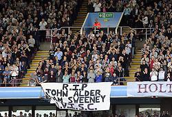 Aston Villa fans pay their respects to John Alder and Liam Sweeney - Photo mandatory by-line: Joe Meredith/JMP - Mobile: 07966 386802 23/08/2014 - SPORT - FOOTBALL - Birmingham - Villa Park - Aston Villa v Newcastle United - Barclays Premier League