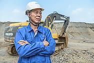 China  / Huzhou   <br /> <br /> Huzhou Liyushan mining Co<br /> <br /> <br /> © Daniele Mattioli China Corporate Photographer for Volvo CE Spirit Magazine