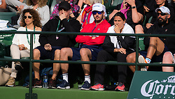 March 9, 2019 - Indian Wells, USA - Team Pliskova in action during her second-round match at the 2019 BNP Paribas Open WTA Premier Mandatory tennis tournament (Credit Image: © AFP7 via ZUMA Wire)