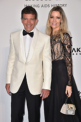 Antonio Banderas, Nicole Kimpel attend the amfAR Cannes Gala 2019 at Hotel du Cap-Eden-Roc on May 23, 2019 in Cap d'Antibes, France. Photo by Lionel Hahn/ABACAPRESS.COM