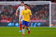 Brazil Liverpool midfielder Philippe Coutinho (11) asks for the ball during the International Friendly match between England and Brazil at Wembley Stadium, London, England on 14 November 2017. Photo by Simon Davies.