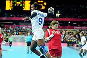 DESCRIZIONE : France Hand Jeux Olympiques Londres <br /> GIOCATORE : BAUDOUIN Paule FRA<br /> SQUADRA : France Femme<br /> EVENTO : FRANCE Hand Jeux Olympiques<br /> GARA : FRANCE NORVEGE<br /> DATA : 28 07 2012<br /> CATEGORIA : Hand Jeux Olympiques<br /> SPORT : Handball<br /> AUTORE : JF Molliere <br /> Galleria : France Hand 2011-2012 Action<br /> Fotonotizia : France Hand Femme Hand Jeux Olympiques Londres