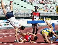 Friidrett<br /> VM 2007 <br /> Osaka - Japan<br /> 26.08.2007<br /> Foto: Gepa/Digitalsport<br /> NORWAY ONLY<br /> <br /> Forsøk 3000 meter hinder menn<br /> Bild zeigt Tom Brooks (USA), Guenther Weidlinger (AUT), Ezekiel Kemboi (KEN) und Henrik Skoog (SWE)