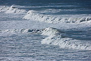 Rolling waves in the sea at Woolacombe, North Devon, UK