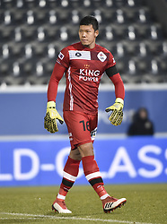 February 17, 2018 - Leuven, BELGIUM - OHL's Thai goalkeeper Kawin Thamsatchanan looks on during a soccer game between OH Leuven and KFCO Beerschot Wilrijk, in Heverlee, Leuven, Saturday 17 February 2018, on day 27 of the division 1B Proximus League competition of the Belgian soccer championship. BELGA PHOTO BRUNO FAHY (Credit Image: © Bruno Fahy/Belga via ZUMA Press)