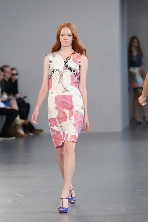 Models walk the runway for the SS 2012 Michael van der Ham fashion show held during London Fashion Week in London, UK.