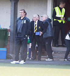 Hibernian's manager Alan Stubbs at the end.<br /> Alloa Athletic 2 v 1 Hibernian, Scottish Championship game played 30/8/2014 at Alloa Athletic's home ground, Recreation Park, Alloa.