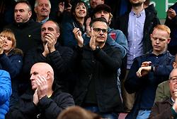 Wael Al-Qadi president of Bristol Rovers FC sits in fans at Northampton Town - Mandatory by-line: Robbie Stephenson/JMP - 07/10/2017 - FOOTBALL - Sixfields Stadium - Northampton, England - Northampton Town v Bristol Rovers - Sky Bet League One