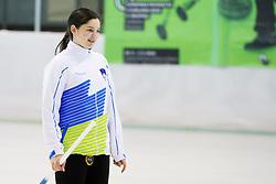 Ana Svetina of Slovenia during curling match between National teams of Slovenia and Lithuania in 6th Round of European Curling Championship on April 29, 2016 in Ledena dvorana Zalog, Ljubljana, Slovenia. Photo By Urban Urbanc / Sportida