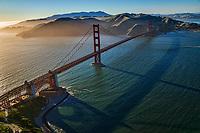 Fort Point (lower left) & Golden Gate Bridge