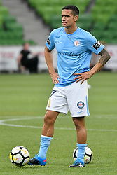 November 24, 2017 - Melbourne, Victoria, Australia - TIMOTHY CAHILL (17) of Melbourne City warms up in the round eight match of the A-League between Melbourne City and Perth Glory at AAMI Park, Melbourne, Australia. Perth won 3-1 (Credit Image: © Sydney Low via ZUMA Wire)