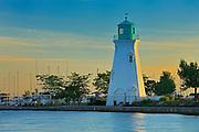 Lighthouse on Lake Ontario at Port Dalhouise