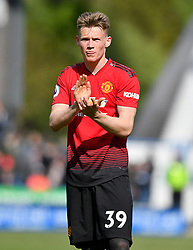 Manchester United's Scott McTominay applauds the fans after the final whistle of the Premier League match at the John Smith's Stadium, Huddersfield.