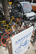 Beijing: Bike sharing in China has multiplied over the years with various brands offering shared bikes which can be unlocked using an application on your mobile telephone, and then locked and left anywhere for the next rider. Ofo and Mobike are the two world leaders. One of the problems is the huge over supply of bikes, which has meant many startups going out of business, and huge bike cemeteries created on the outskirts of China's mega cities, where hundred's of thousands of bikes are rusting away.