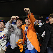 New York Mets fans during the New York Mets Vs Los Angeles Dodgers, game three of the NL Division Series at Citi Field, Queens, New York. USA. 12th October 2015. Photo Tim Clayton for The Players Tribune
