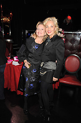 Left to right, KAY SAATCHI and AMANDA ELIASCH at a party to celebrate the publication of Cloak & Dagger Butterfly by Amanda Eliasch held at the Soho Revue Bar, London on 17th November 2008.