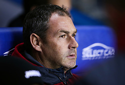 Swansea City manager Paul Clement during the Carabao Cup, third round match at the Madejski Stadium, Reading.