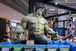 June 12, 2017 - Shanghai, Shanghai, China - Shanghai, CHINA-June 12 2017: (EDITORIAL USE ONLY. CHINA OUT) ..The Marvel Super Heroes including Iron Man and Hulk can be seen at a shopping mall in Shanghai, June 12th, 2017. (Credit Image: © SIPA Asia via ZUMA Wire)