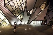 Walking Outside the Crystal, the Royal Ontario, Museum, Toronto, Ontario, Canada
