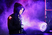 Ronda Rousey waits to walk out to her fight against Miesha Tate. FORZA/ZUFFA