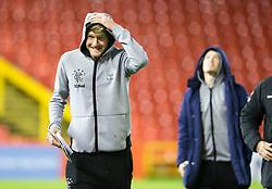 Rangers Joe Worrall (left) and Steven Davis during the Ladbrokes Scottish Premiership match at Pittodrie Stadium, Aberdeen.