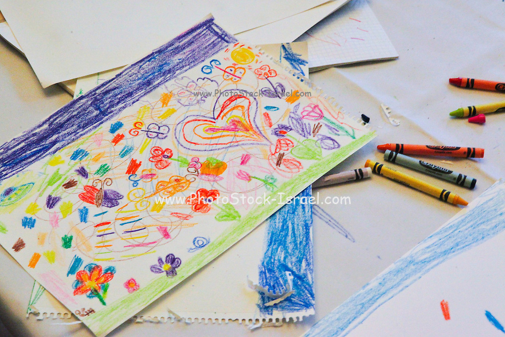 Child's crayon drawing