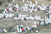 Africa, Ethiopia, Axum, Timket ceremony, Baptizing ceremony at the pool of holy water January 19 2009