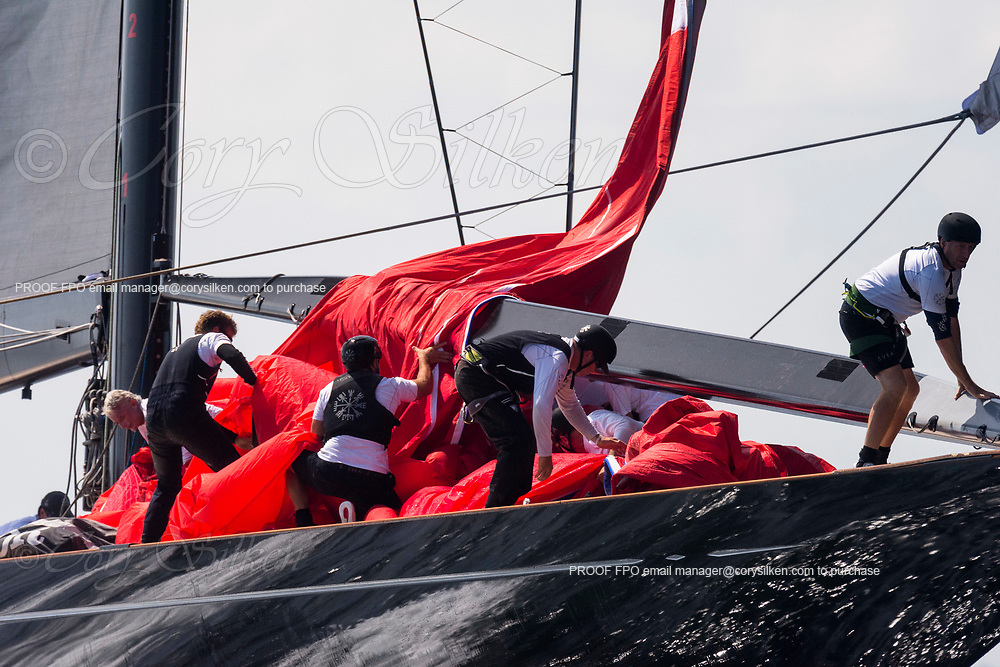 Svea sailing in the J Class World Championship, day two.