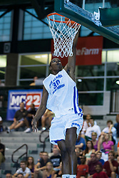 23 June 2012: Akeem Springs.  Illinois Basketball Coaches Association (IBCA) All Star game at Shirk Center, Illinois Wesleyan, Bloomington, IL