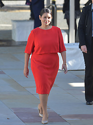 Home Secretary Priti Patel arrives to hear her leaders speech at the Conservative Party conference in Manchester.<br /> <br /> © Dave Johnston / EEm