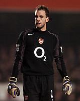 Photo: Javier Garcia/Back Page Images<br />Arsenal v Chelsea, FA Barclays Premiership, Highbury 12/12/04<br />Manuel Almunia