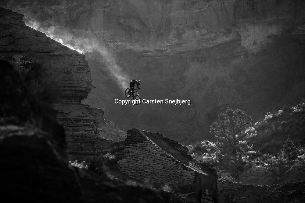 Red Bull Rampage 2017. The drops are massive and the riders need to be precise. Set in one of the most demanding locations on the planet, the event has become the most coveted title in Freeride Mountain Biking.