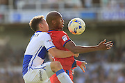 Tom Lockyer, Calvin Andrew during the EFL Sky Bet League 1 match between Bristol Rovers and Rochdale at the Memorial Stadium, Bristol, England on 10 September 2016. Photo by Daniel Youngs.