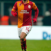 Galatasaray's Wesley Sneijder during their Turkish superleague soccer derby match Galatasaray between Besiktas at the TT Arena at Seyrantepe in Istanbul Turkey on Sunday, 27 January 2013. Photo by Aykut AKICI/TURKPIX