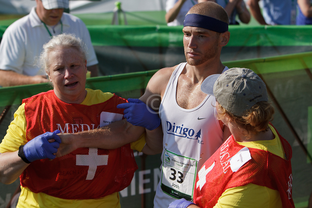 Beach to Beacon 10K , Josh Zolla , medical team responds to exhausted runner