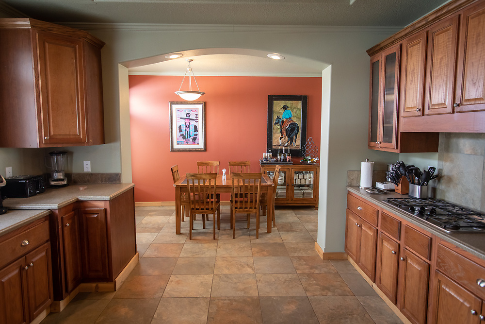 The guest house at A Painted View Ranch offers Southwestern decor, elegantly appointed and well stocked.