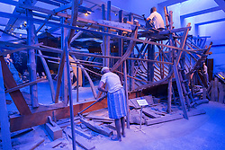 Dhow construction exhibit at Dubai Museum in United Arab Emirates