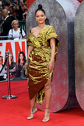June 13, 2018 - London, United Kingdom of Great Britain and Northern Ireland - Rihanna arriving at the London premiere of 'Ocean's 8' at Cineworld Leicester Square on June 13, 2018 in London, England  (Credit Image: © Famous/Ace Pictures via ZUMA Press)