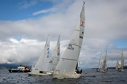 Largs Regatta Week 2017 <br /> Day 1 Class 3 start IRL16010, Busy Beaver, M Bradshaw,J Gallagher, Cove Sailing Club, Sigma 33 OOD<br /> <br /> Picture Marc Turner