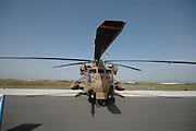 Israel, Tel Nof IAF Base, An Israeli Air force (IAF) exhibition Israeli Air force Sikorsky CH-53 helicopter