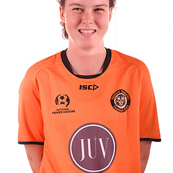 BRISBANE, AUSTRALIA - FEBRUARY 1: Marguerite De Roquefeuil of Easts poses for a photo during the Eastern Suburbs NPL Queensland Senior Women's headshot session on February 1, 2018 in Brisbane, Australia. (Photo by Eastern Suburbs FC / Patrick Kearney)