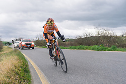 Nikki Harris attacks - 2016 Strade Bianche - Elite Women, a 121km road race from Siena to Piazza del Campo on March 5, 2016 in Tuscany, Italy.