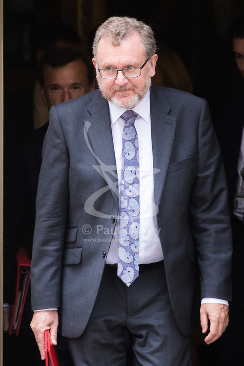 Downing Street, London, September 9th 2016.  Scotland Secretary David Mundell leaves 10 Downing Street following the weekly cabinet meeting.
