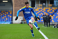 AFC Wimbledon attacker Ryan Longman (29) dribbling and controlling the ball during the EFL Sky Bet League 1 match between AFC Wimbledon and Sunderland at Plough Lane, London, United Kingdom on 16 January 2021.