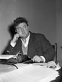 1957 - Brendan Behan, playwright and author