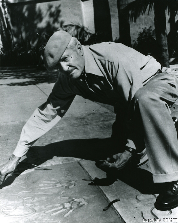 1943 Jean Klossner's hand/footprint ceremony at the Chinese Theater